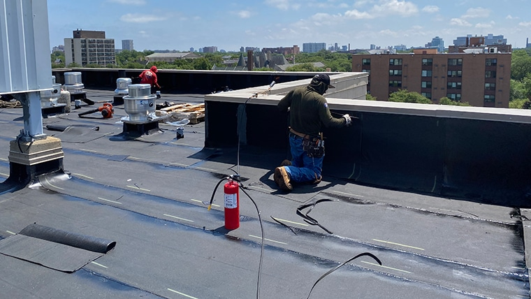 EPDM Rubber Roofing - Flat Roof Inc Chicago